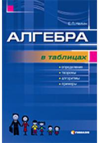 Алгебра в таблицях. Навчальний посібник для учнів 7-11 класів.