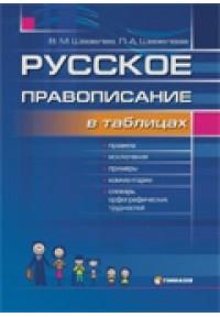 Русское правописание в таблицах со словарем орфографических трудностей